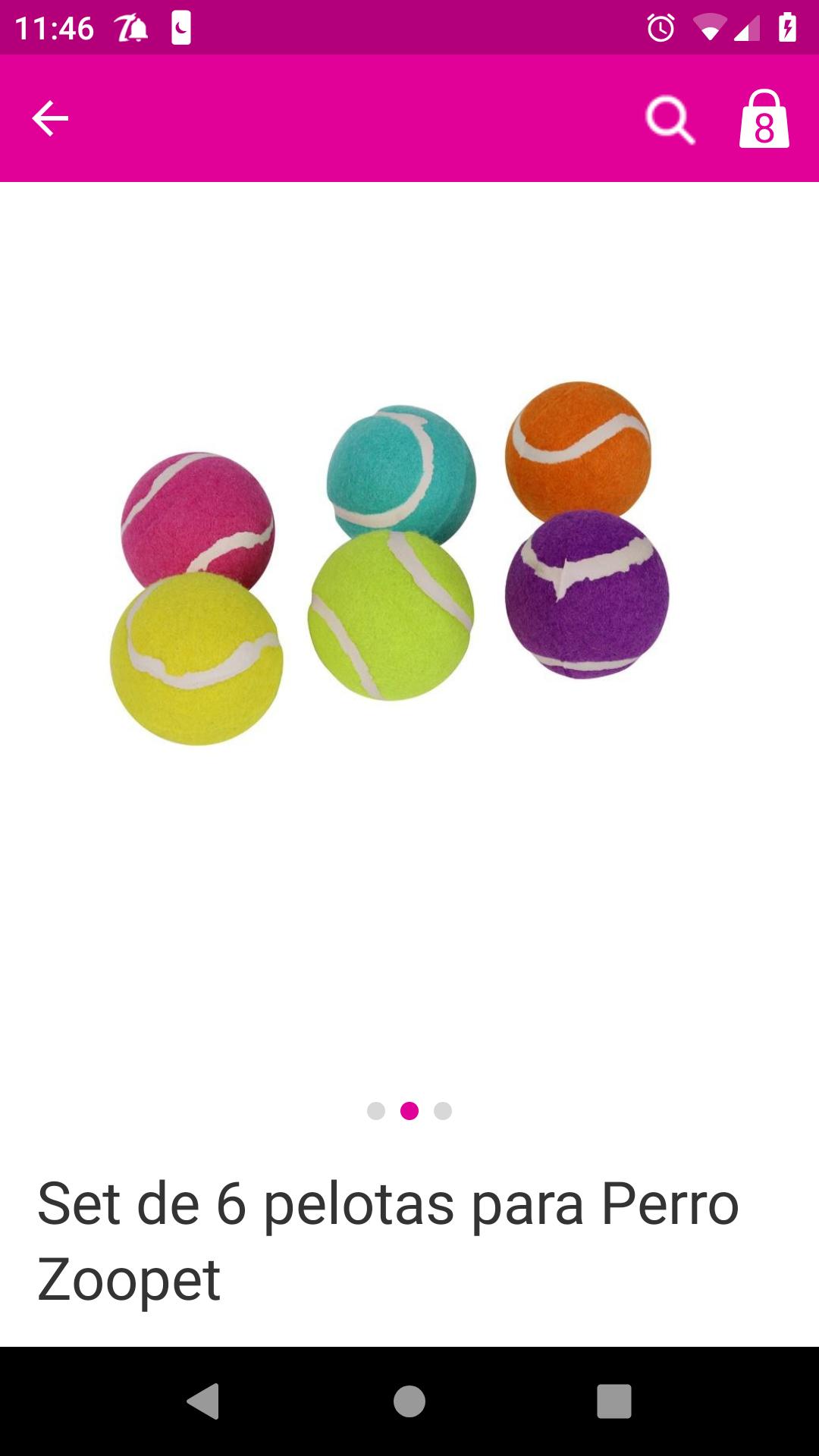 Liverpool : set de 6 pelotas de colores para perro