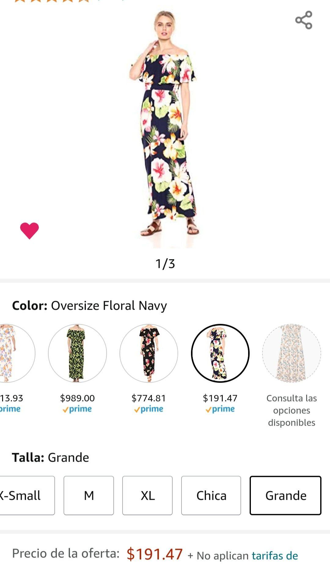 Amazon: Vestido floreado coqueton TALLA GRANDE