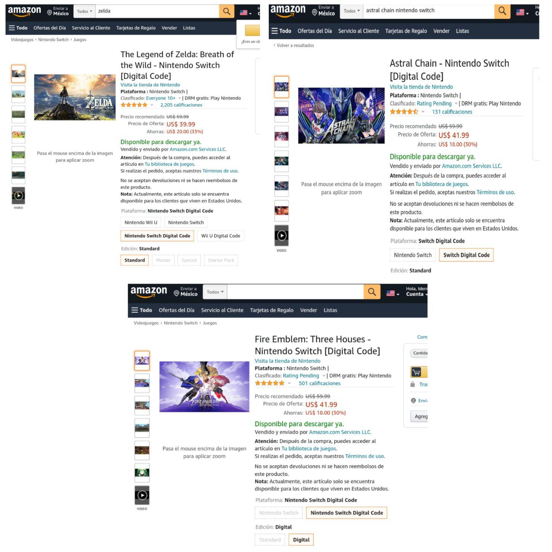 Amazon USA: Zelda Breath of the Wild (código digital - nintendo switch)