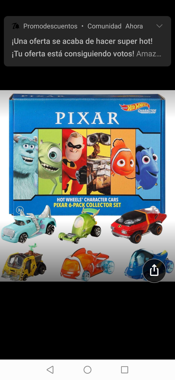 Amazon: Hot Wheels Disney Pixar Toy Story 4 Personajes de Escala 1:64 Woody, Buzz Lightyear, Bo Peep, Forky, Ducky and Bunny, Multi (GVY93)