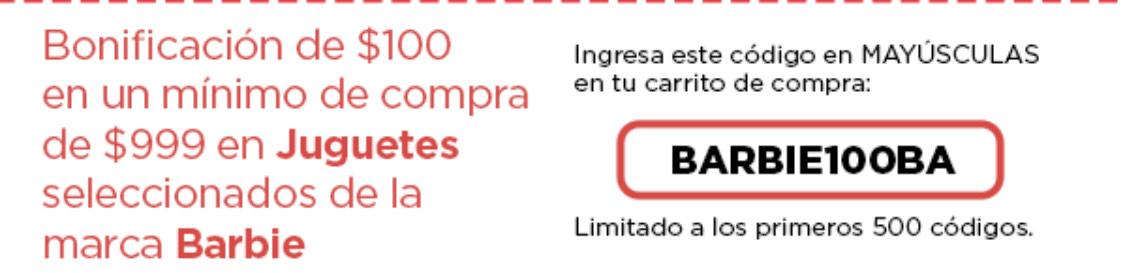 Bodega Aurrera: $100 pesos de descuento en Barbie