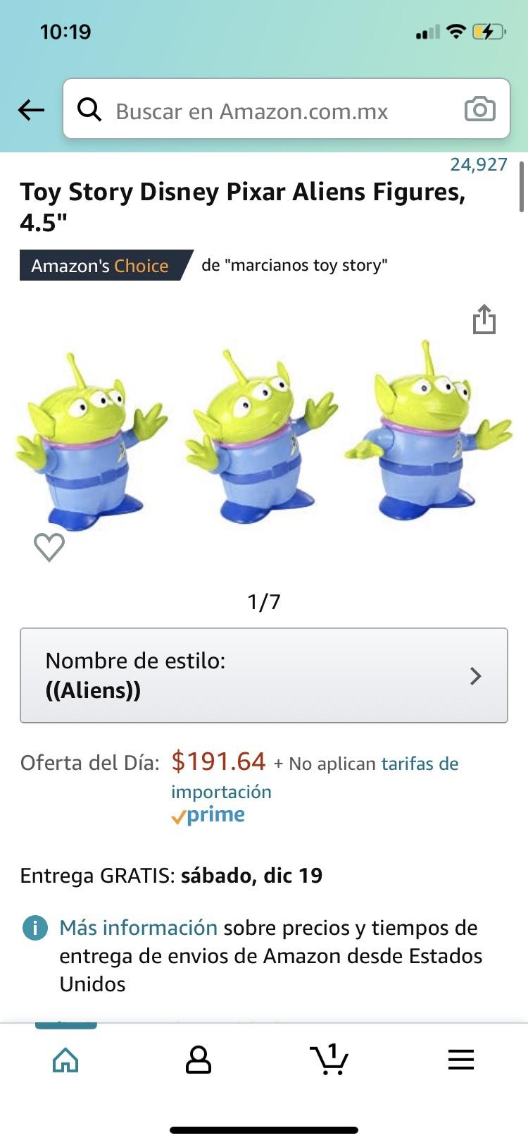 """Amazon: Marcianitos de Toy Story de 4.5"""""""