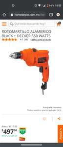 Home Depot: rotomartillo alambrico Black&Decker 550watts