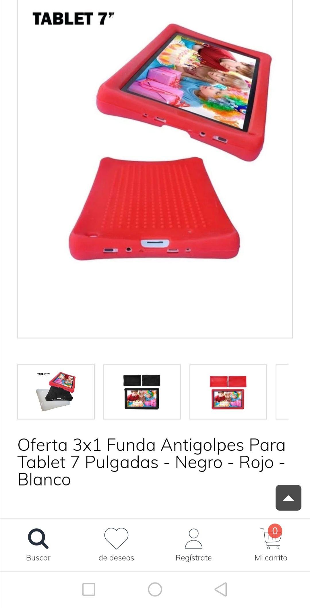 "Claroshop: Funda tablet 7"" 3x1"