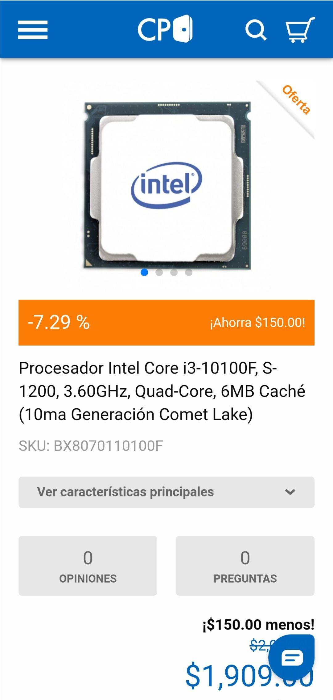 Cyberpuerta: Core I3 10100F