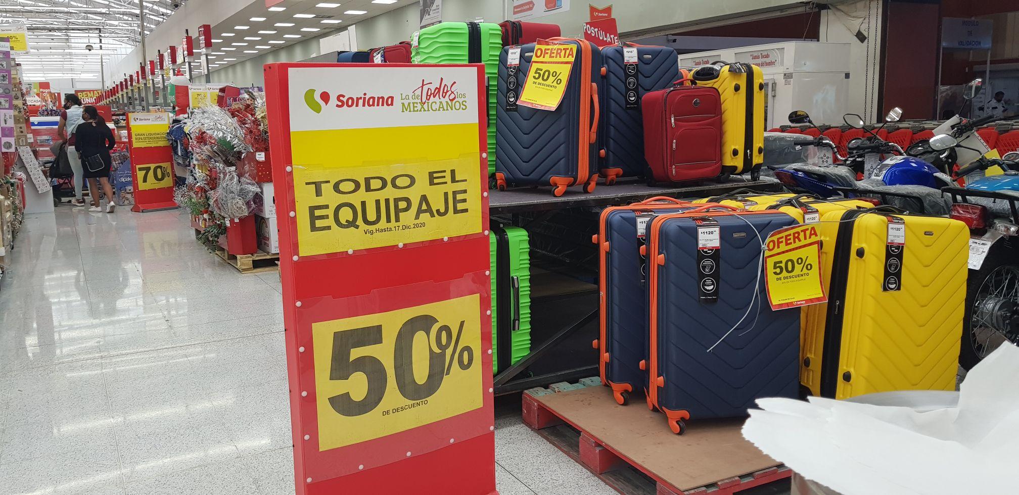 SORIANA LA VILLA: maletas de viaje al 50% de descuento
