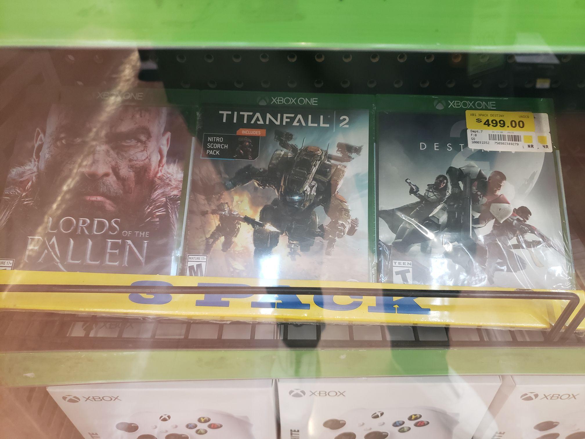 3 Pack Juegos XB1 Destiny, Titanfall 2, Lords, Walmart Puebla