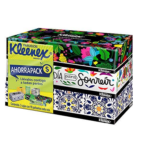 Amazon: Kleenex Pañuelos Faciales Ahorrapack, Paquete con 3 cajas de 90 piezas c/u de doble hoja
