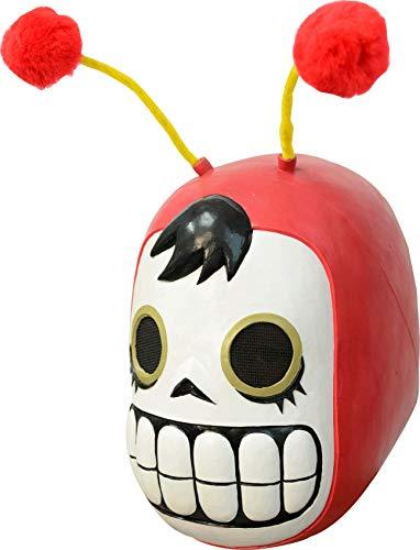 Amazon: Rev Máscara de Chapulín Calaverin, Máscara de Latex de Chapulin Colorado Calavera Ideal para Día de Muertos y Hall