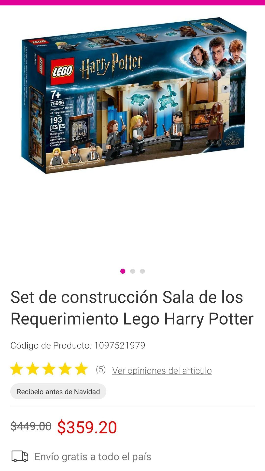 Liverpool :Legos Harry Potter con descuento
