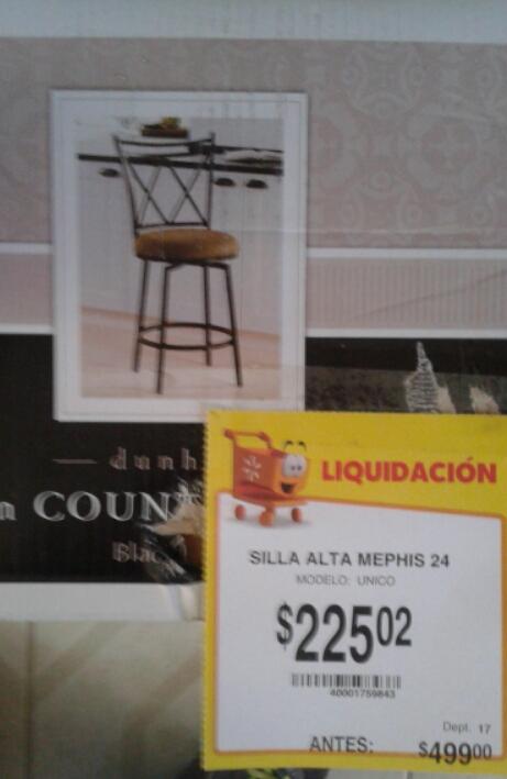 Walmart Jesús del Monte: silla alta Memphis en segunda rebaja a $225.02