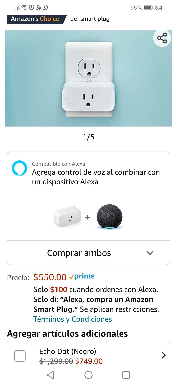 Amazon Smart Plug a sólo $100 comprando directamente con Alexa