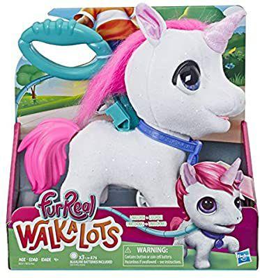 Amazon: Furreal Peluche Unicornio Walkalots (con correa)