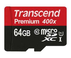 Amazon USA: Transcend 64GB MicroSDXC Class 10 UHS-1 a $13.99 USD (aprox. $263 MXN)