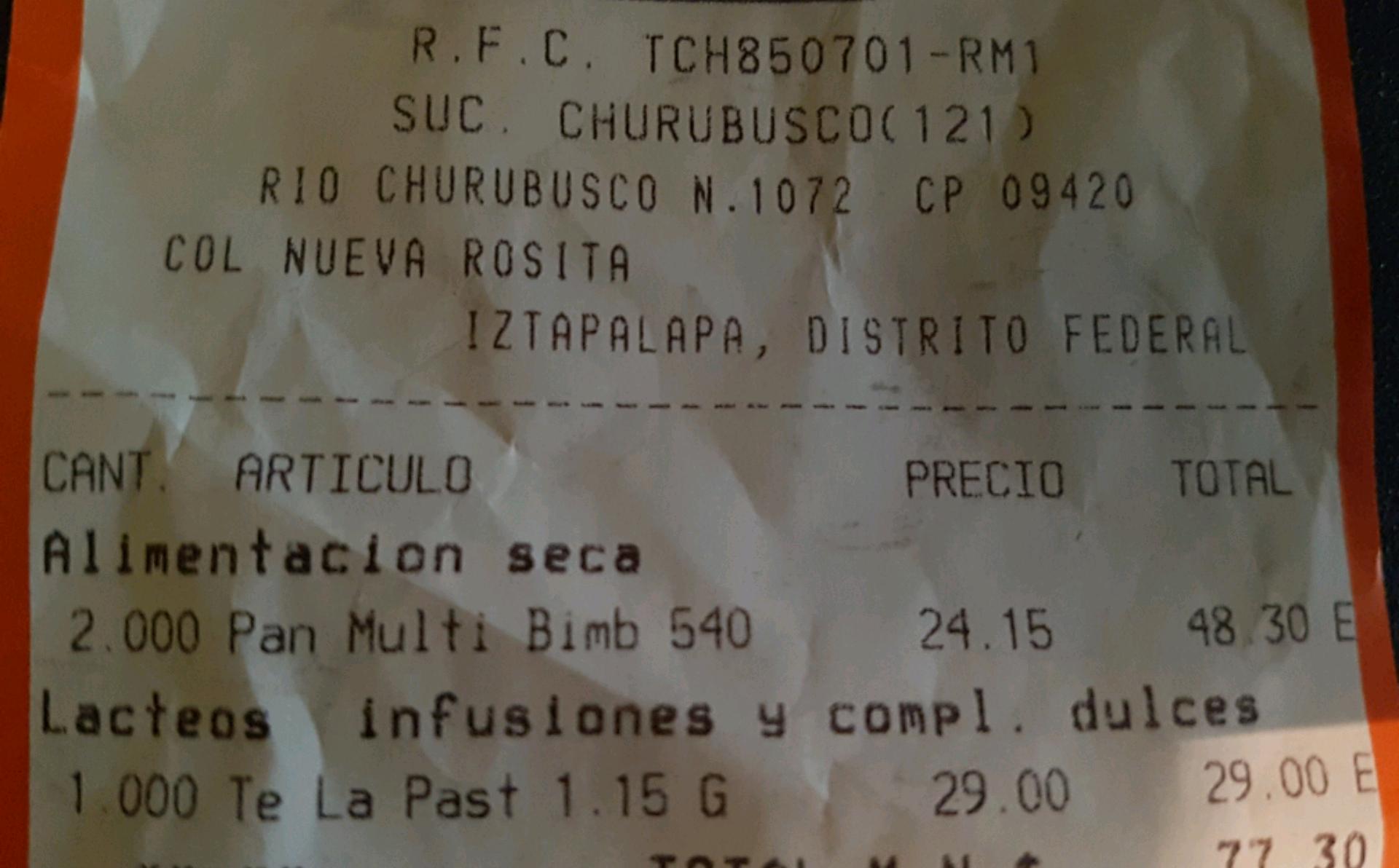 Chedraui Churubusco: Pan de linaza de Bimbo a $24.15