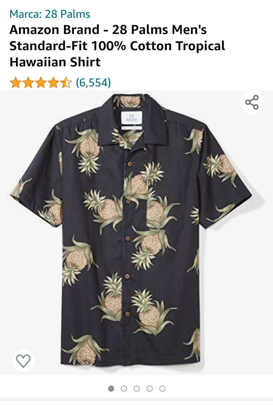 Amazon: Cotton Tropical Hawaiian Shirt XS