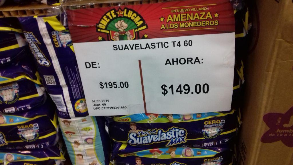 Bodega Aurrerá La Palma: Pañales Suavelastic Max etapa 4 (grade) paquete con 60 a $149