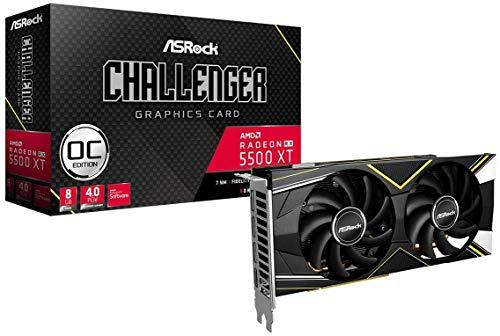 Amazon: ASRock AMD Radeon RX5500XT - Tarjeta de Video GDDR6 (8 GB, Serie Challenger RX5500XT, Challenger D 8G OC)