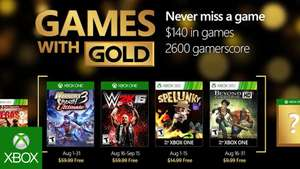 Xbox Games with Gold Agosto 2016