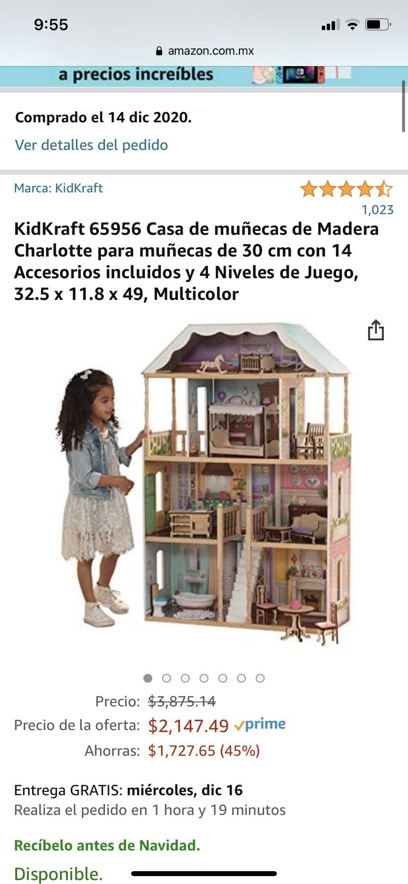 Amazon: Casa de muñecas, si aplicas promo te sale más bara
