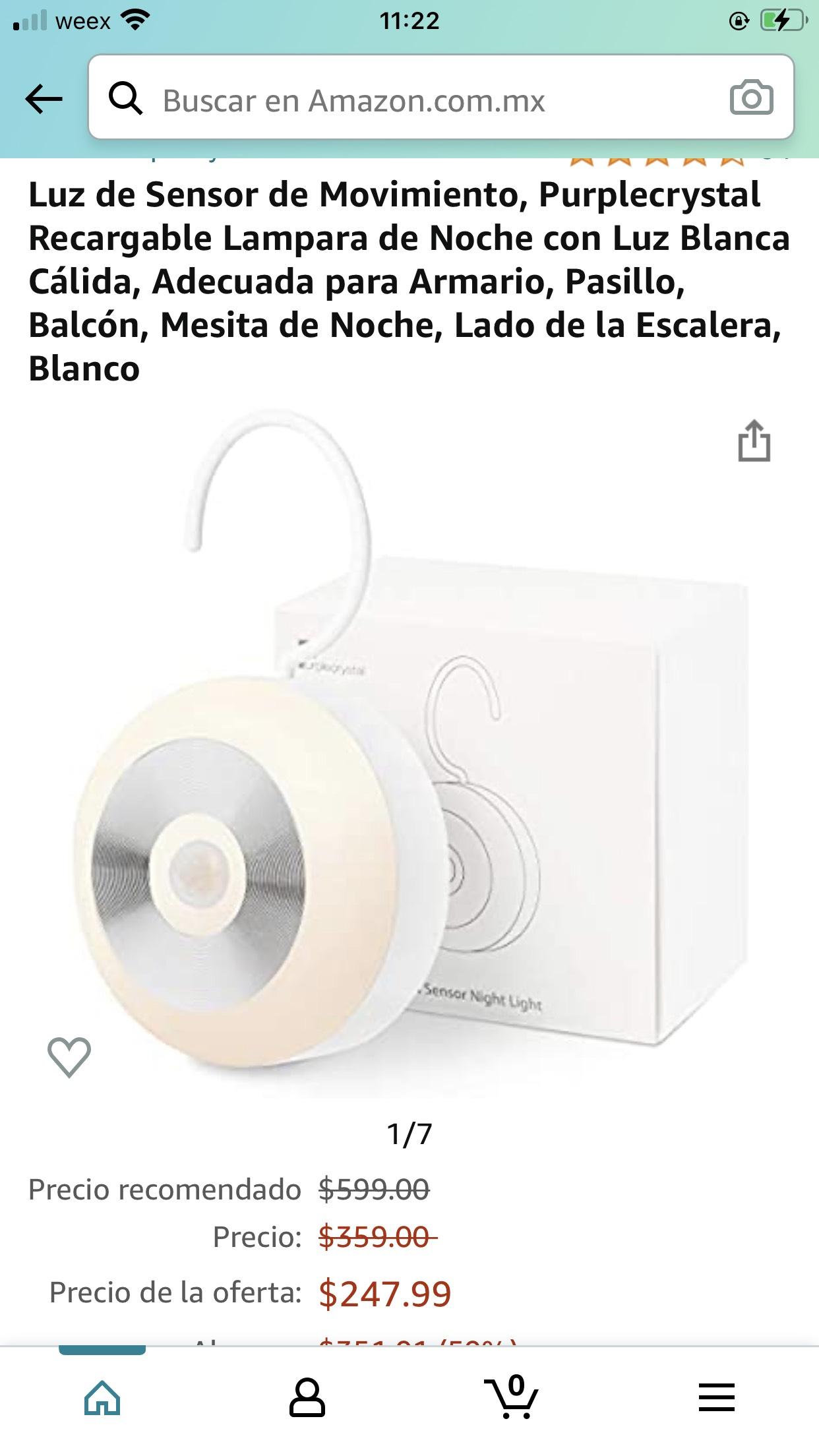 Amazon: Luz de Sensor de Movimiento