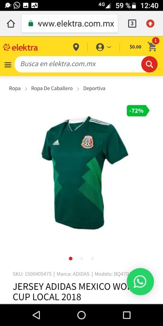 Elektra: Jersey Adidas México World cup local 2018