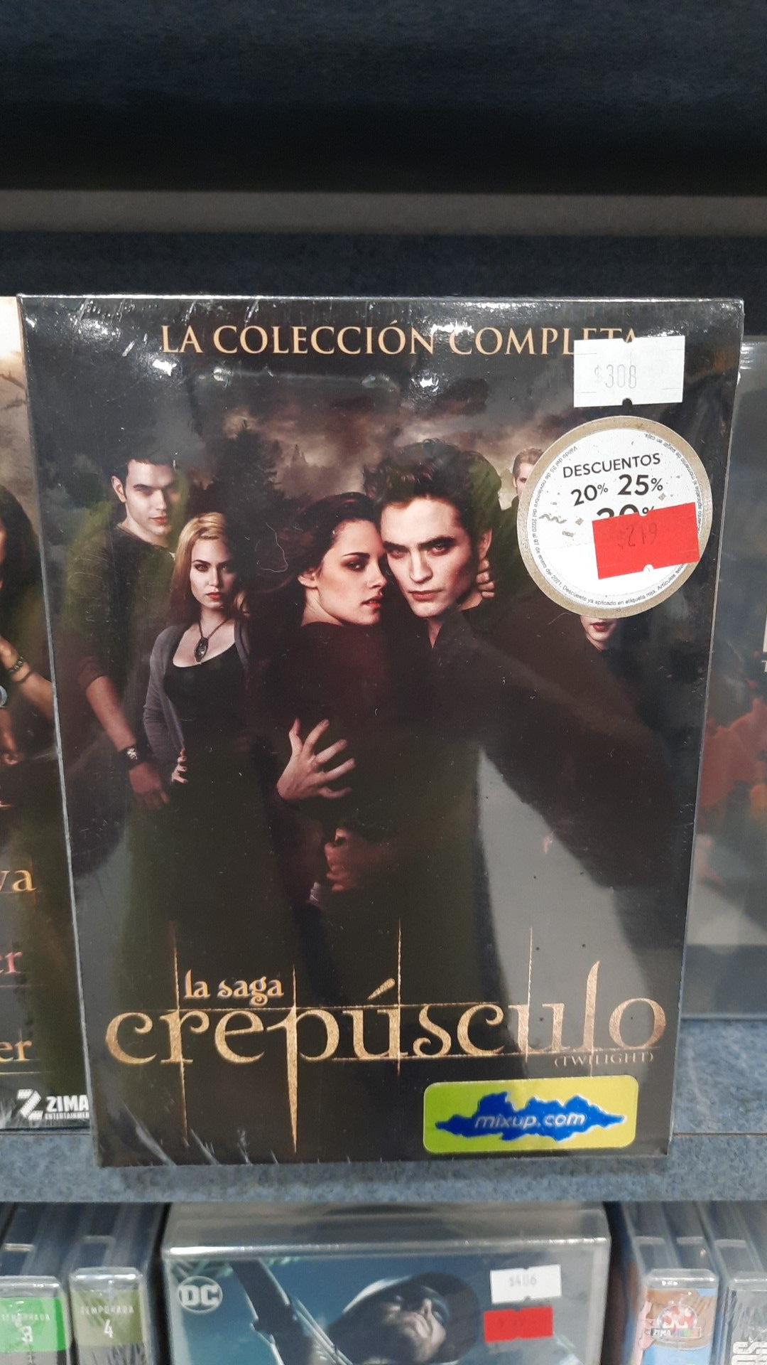 Mixup: Twilight Saga Completa en Dvd Galerías Querétaro