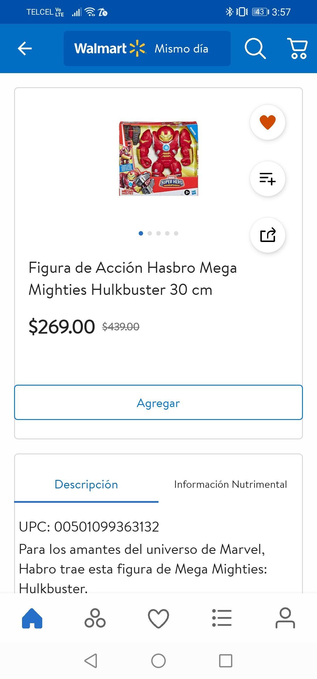 Walmart: Hulkbuster 30 cms