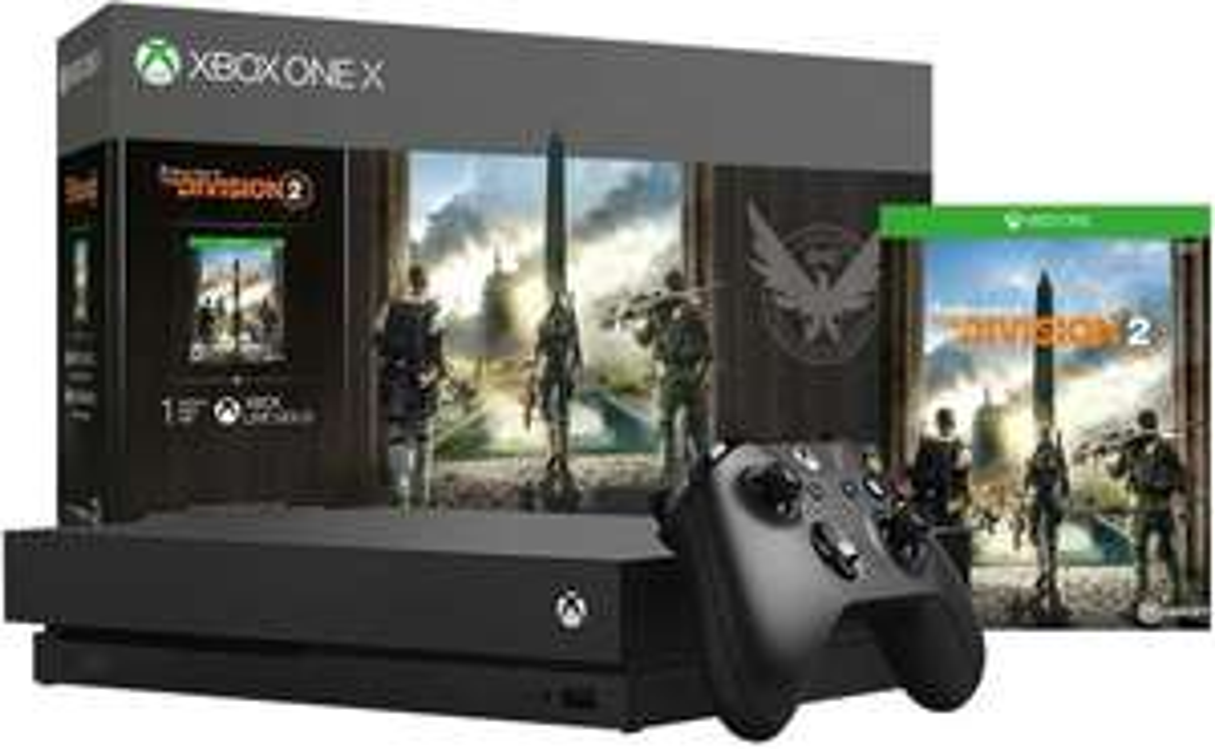 Amazon:Consola Xbox One X, 1TB + The Division 2 - Bundle Edition + $300 (Banorte)