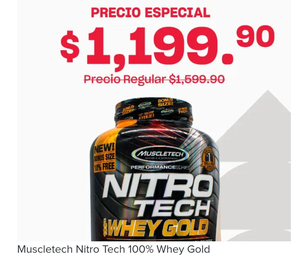 [GNC] NitroTech Whey Gold 5.53lb 76 Servicios