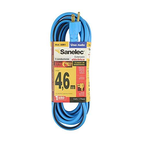Amazon: Sanelec 2261 Extensión Uso Rudo Reforzada 4,6 M