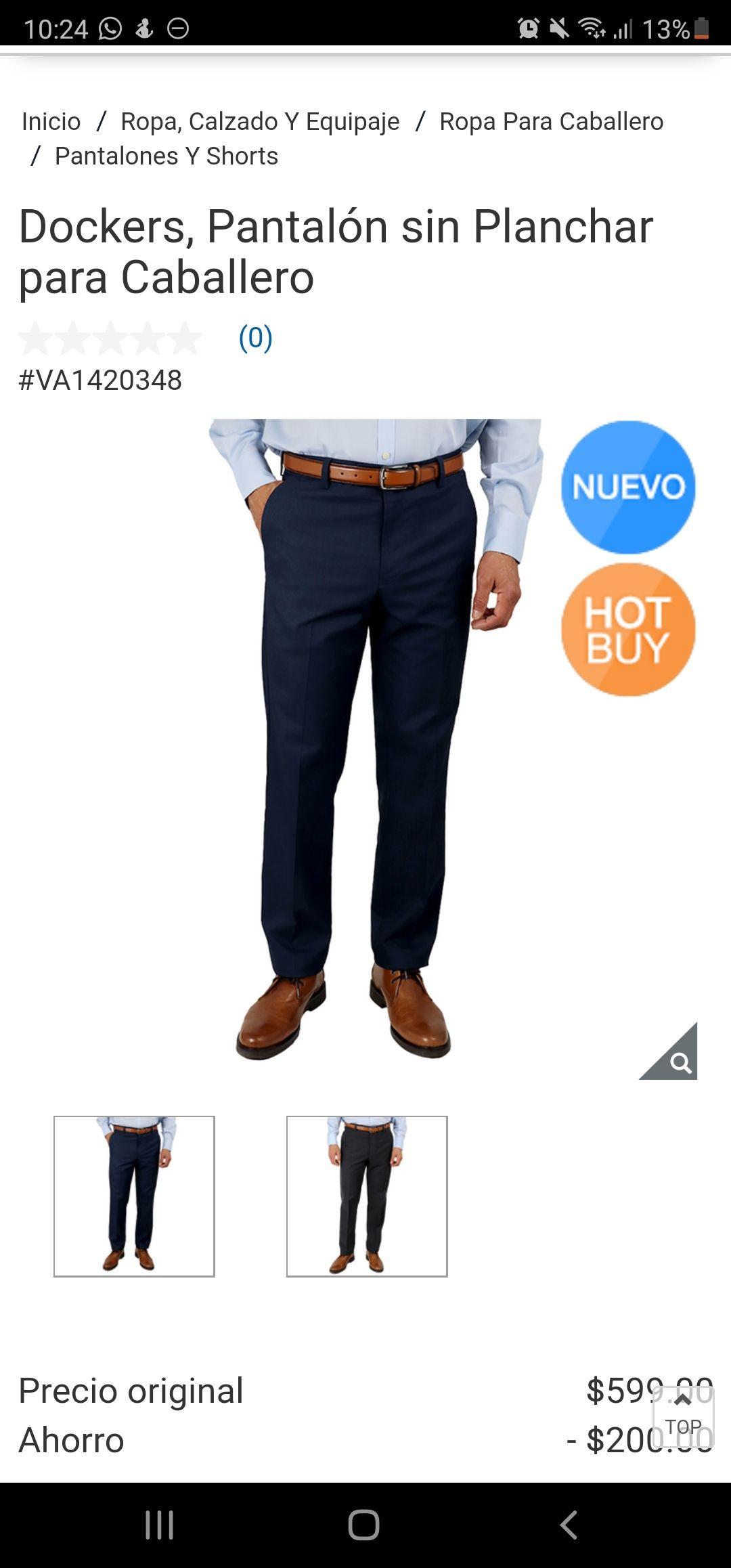 Costco: Dockers, Pantalón sin Planchar para Caballero  (0