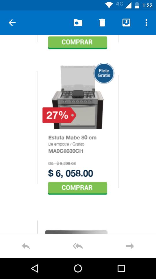 Mabe tienda en línea: estufa Mabe MA0C8030CI1 a $6,058