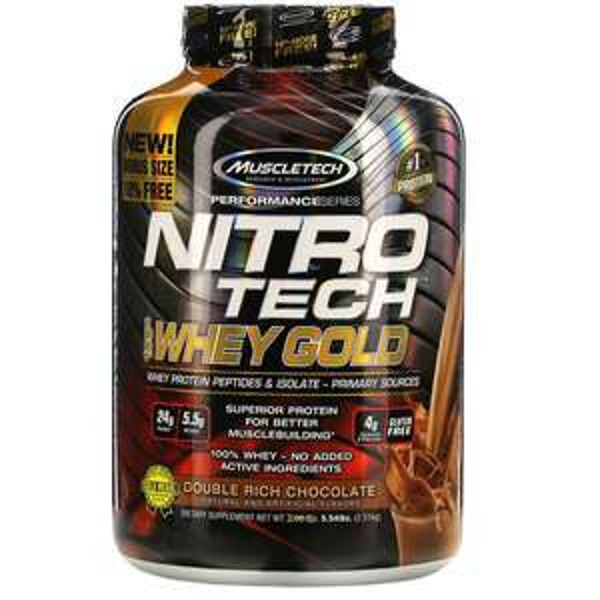 [iHerb] NitroTech Whey Gold 5.53lb 76 Servicios