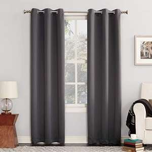 "Amazon : cortinas de ojales opacos Marron 40""x 95"" 1 pieza"