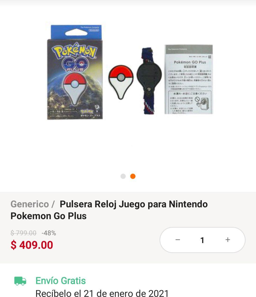 Linio: Pulsera Pokémon Go Plus