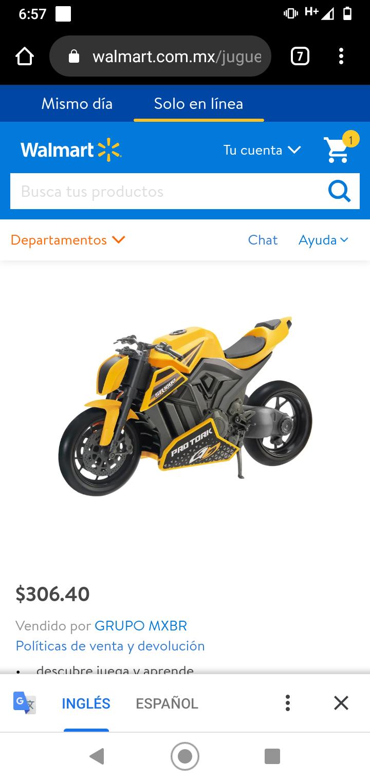Walmart: juguete Motosport