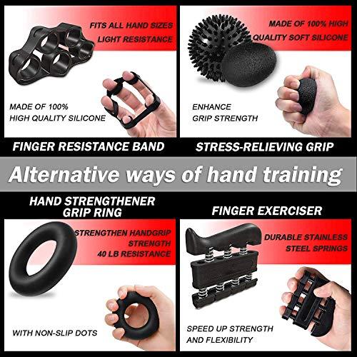Amazon: Juego de entrenador de agarre manual para dedo-7 PCS, Entrenador de Fuerza de Resistencia