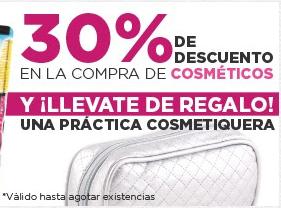 HEB en línea: 30% de descuento en cosméticos y de regalo una cosmetiquera.