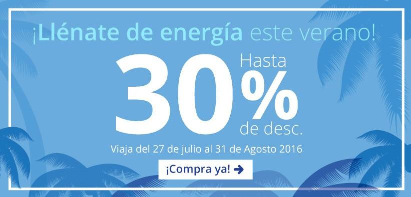 Interjet: hasta 30% de descuento para volar del  27 de julio al 31 de agosto