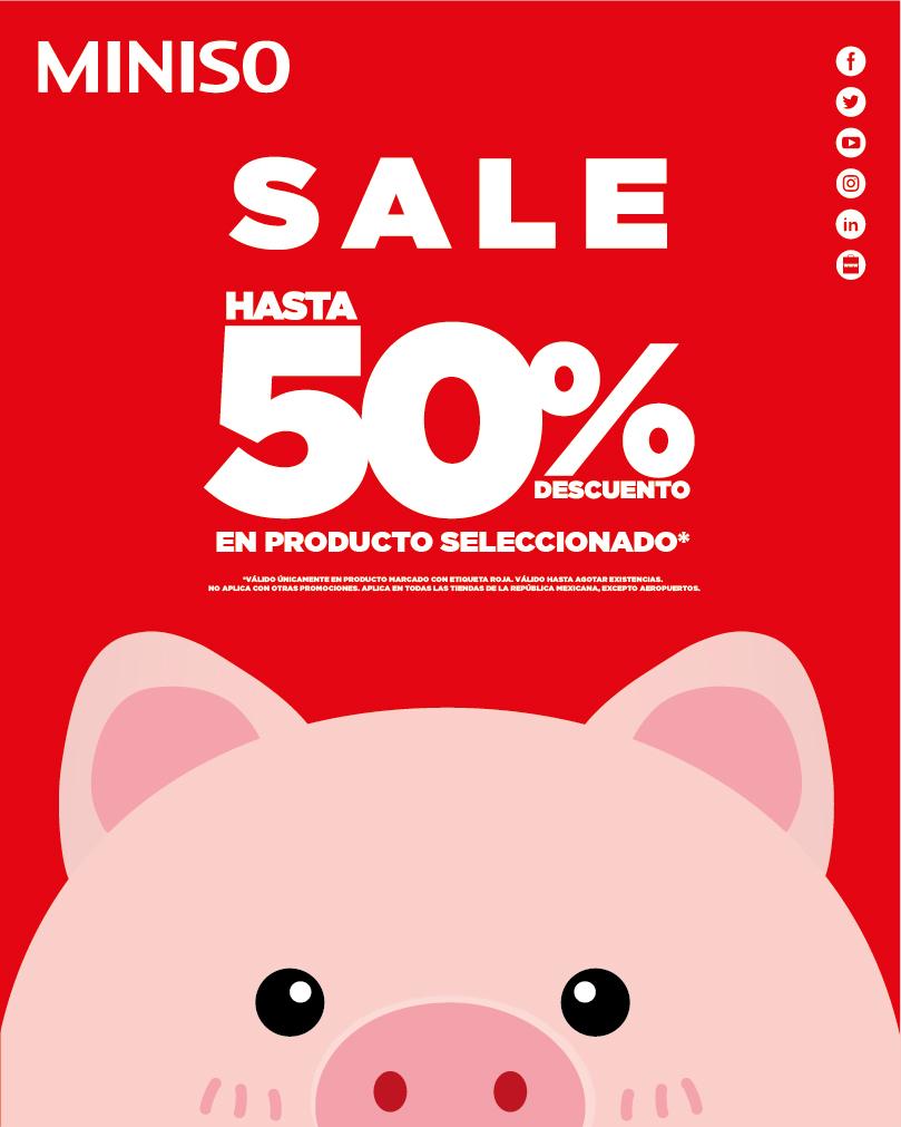 Miniso: Venta Navideña hasta 50% de descuento en artículos seleccionados
