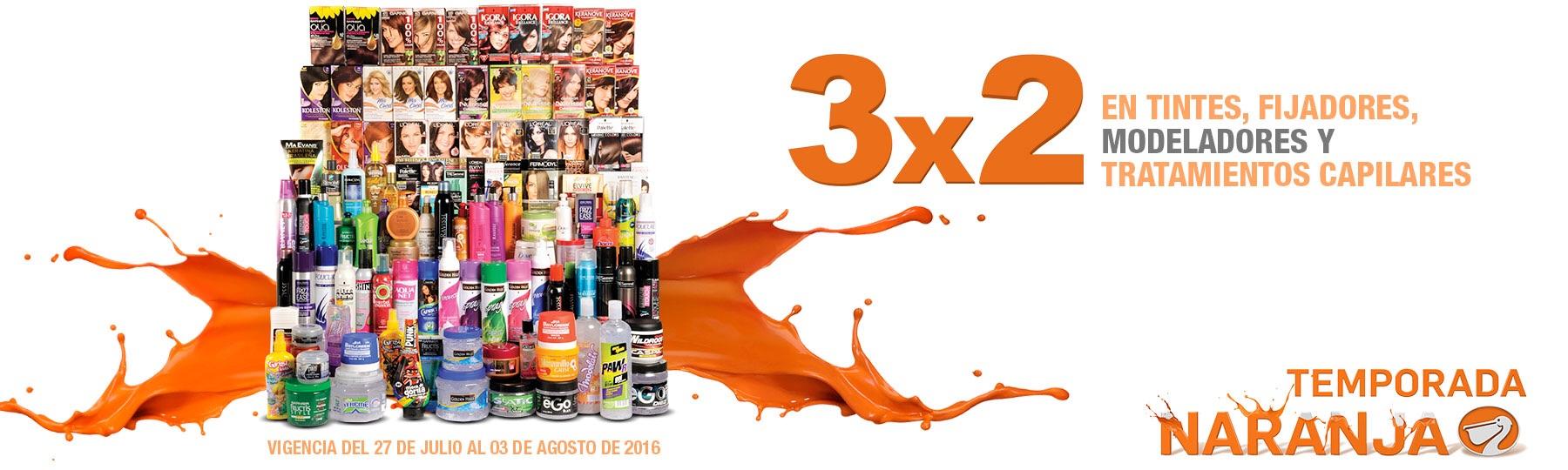 La Comer: 3x2 en tintes, fijadores, modeladores y tratamientos capilares.