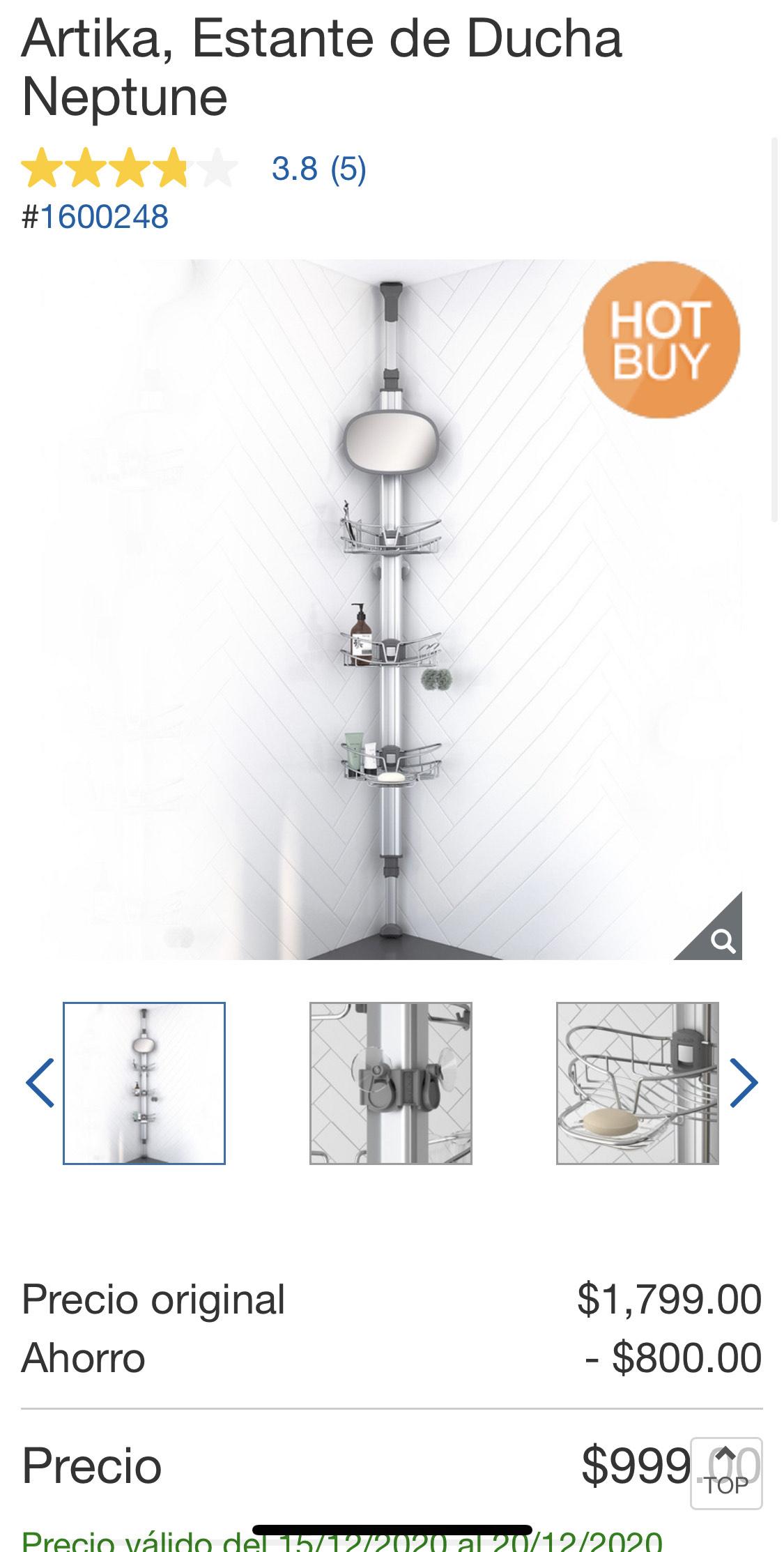Costco: Estante de ducha de lujo