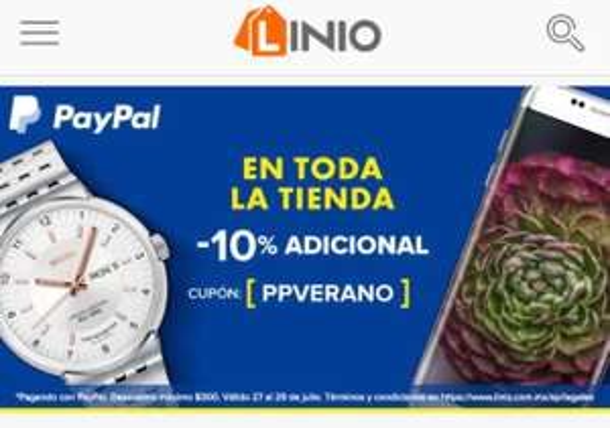 Linio: cupón de 10% de descuento con PayPal PPVERANO