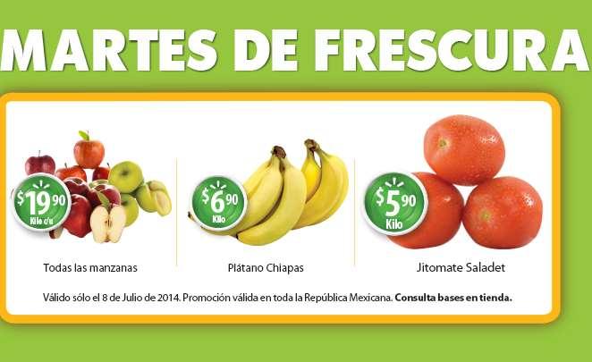 Martes de frescura en Walmart julio 8: plátano $6.90 el kilo y más
