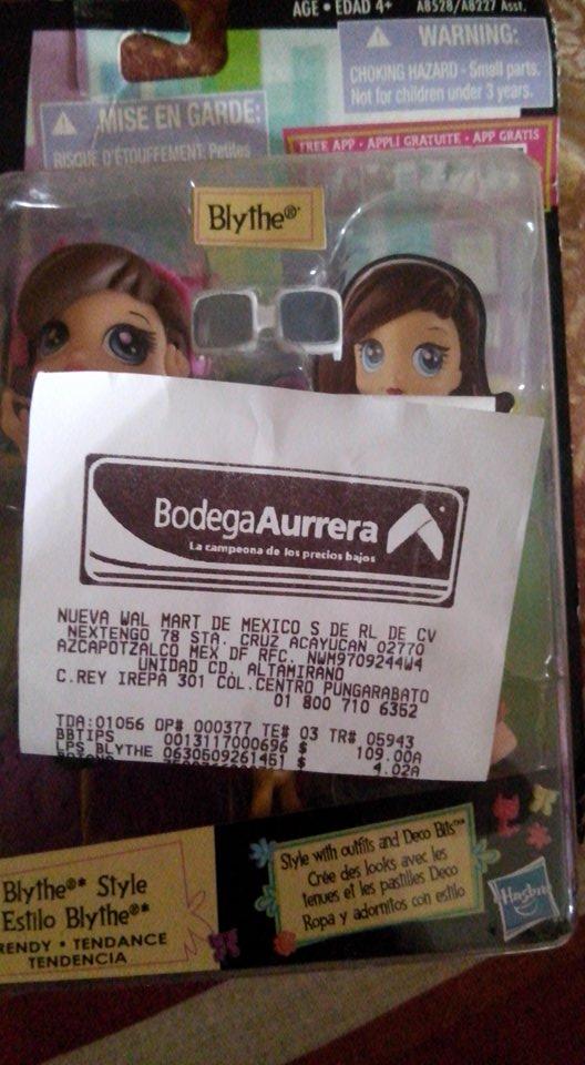 Bodega Aurrerá: muñeca Blythe Hasbro para niña a $4.02