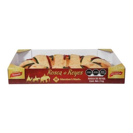 Sam's: Rosca de Reyes 2 kilos calidad member's mark a los que no les salga reno ojalá les salga monito 1er descuento