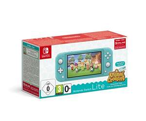 Amazon españa: Nintendo Switch Lite Turquesa + Animal Crossing New Horizons + 3 meses Nintendo Shop Online