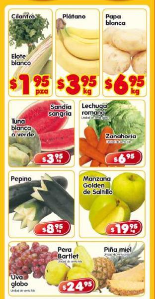 Frutas y verduras en HEB: cilantro $1.95, plátano $3.95 y más