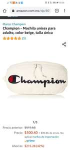 Amazon: Champion riñonera